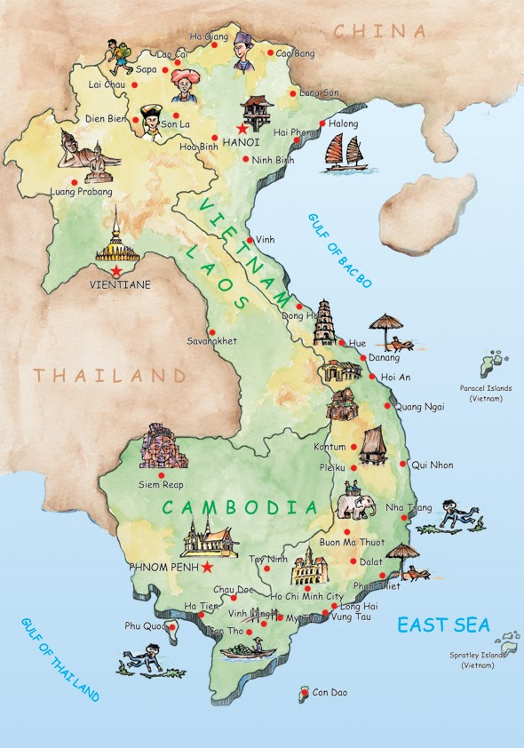 {Vietnam Map For Tourist – Tourist Attractions Map In Vietnam