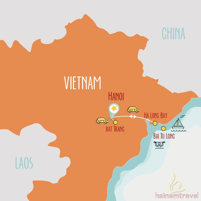 Northern Vietnam Map.Vietnam Family Tour Northern Vietnam For Kids 7 Days